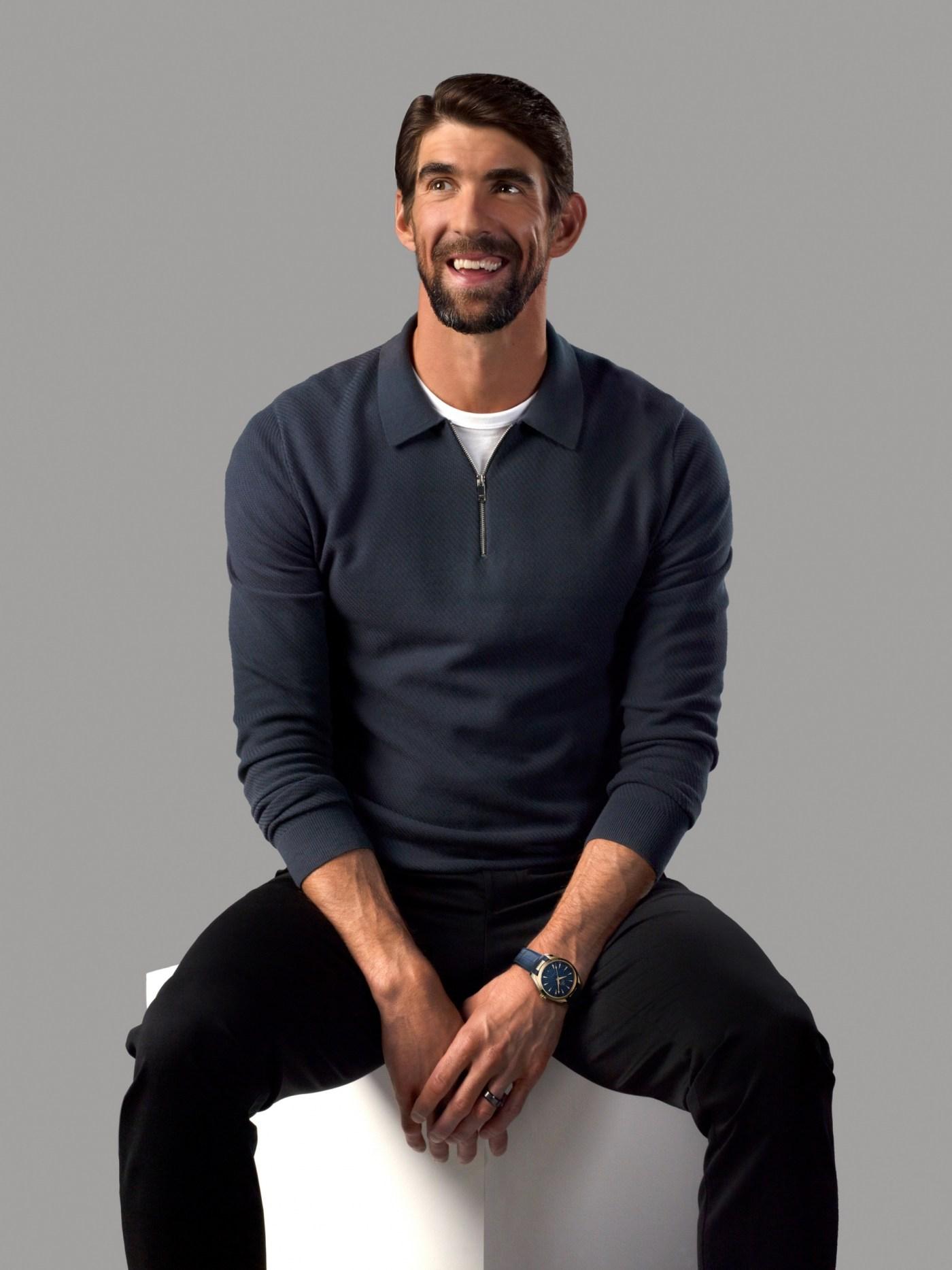 Michael Phelps wearing Seamaster Aqua Terra Tokyo 2020