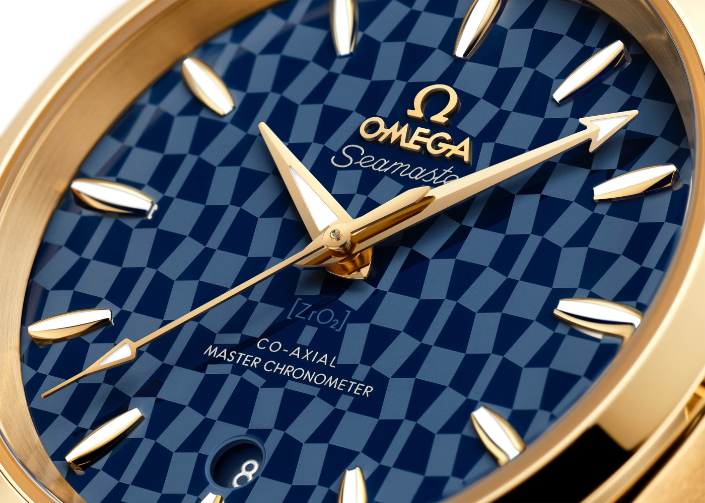 Omega Seamaster Aqua Terra Tokyo 2020 close-up