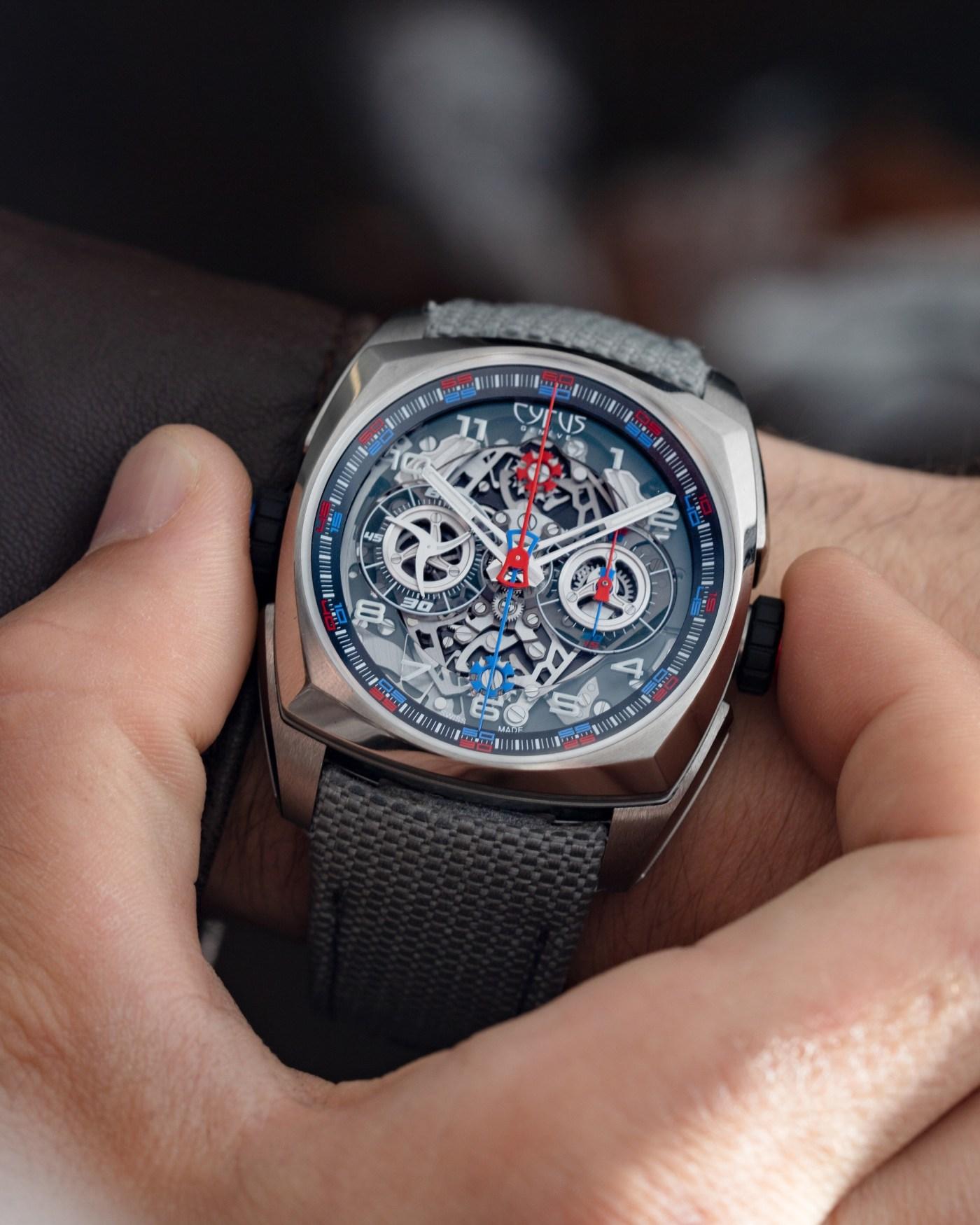 Cyrus Klepcys Dice Chronograph wristshot