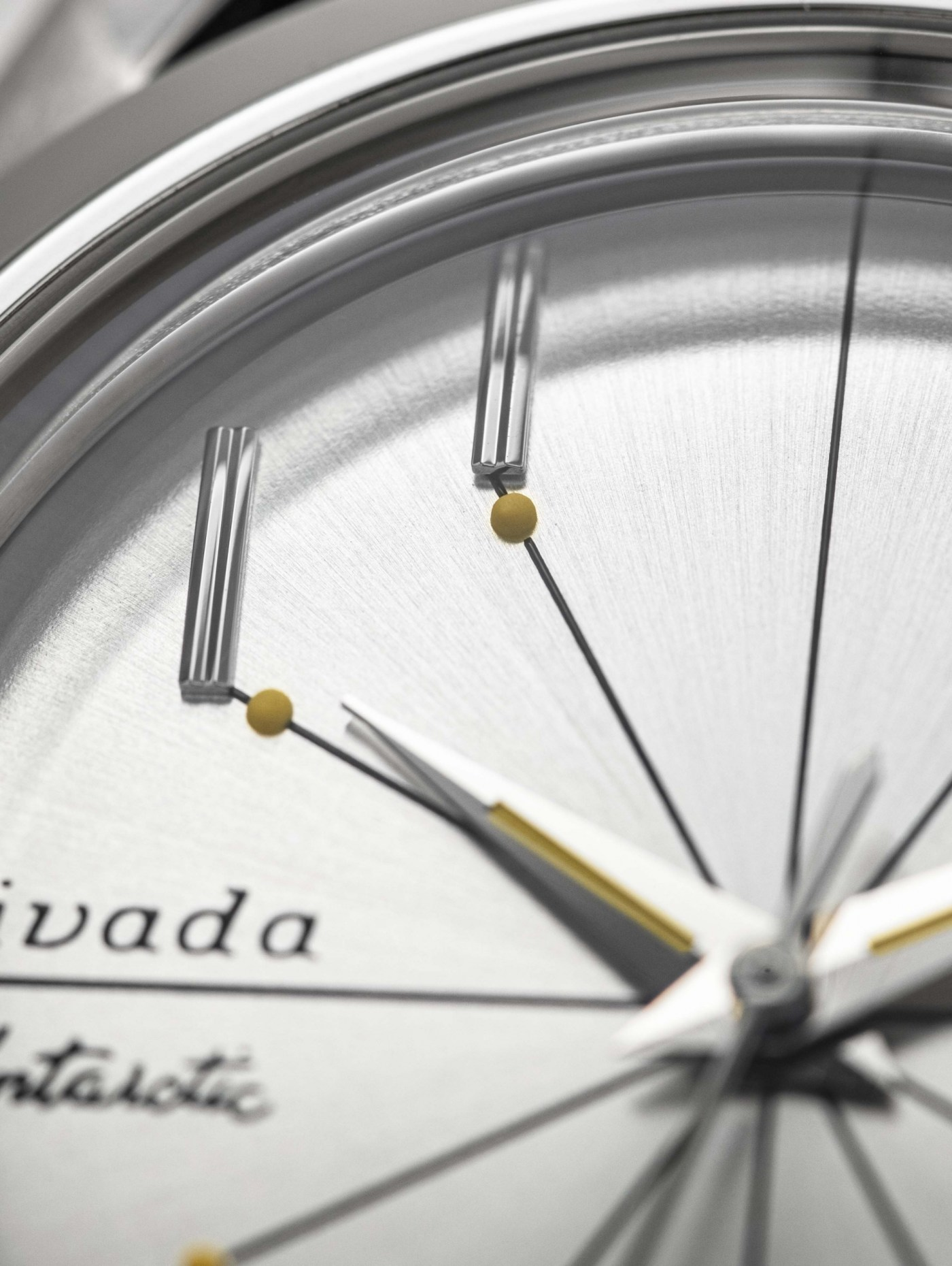 """Nivada Grenchen Antarctic """"Spider"""" dial close-up"""