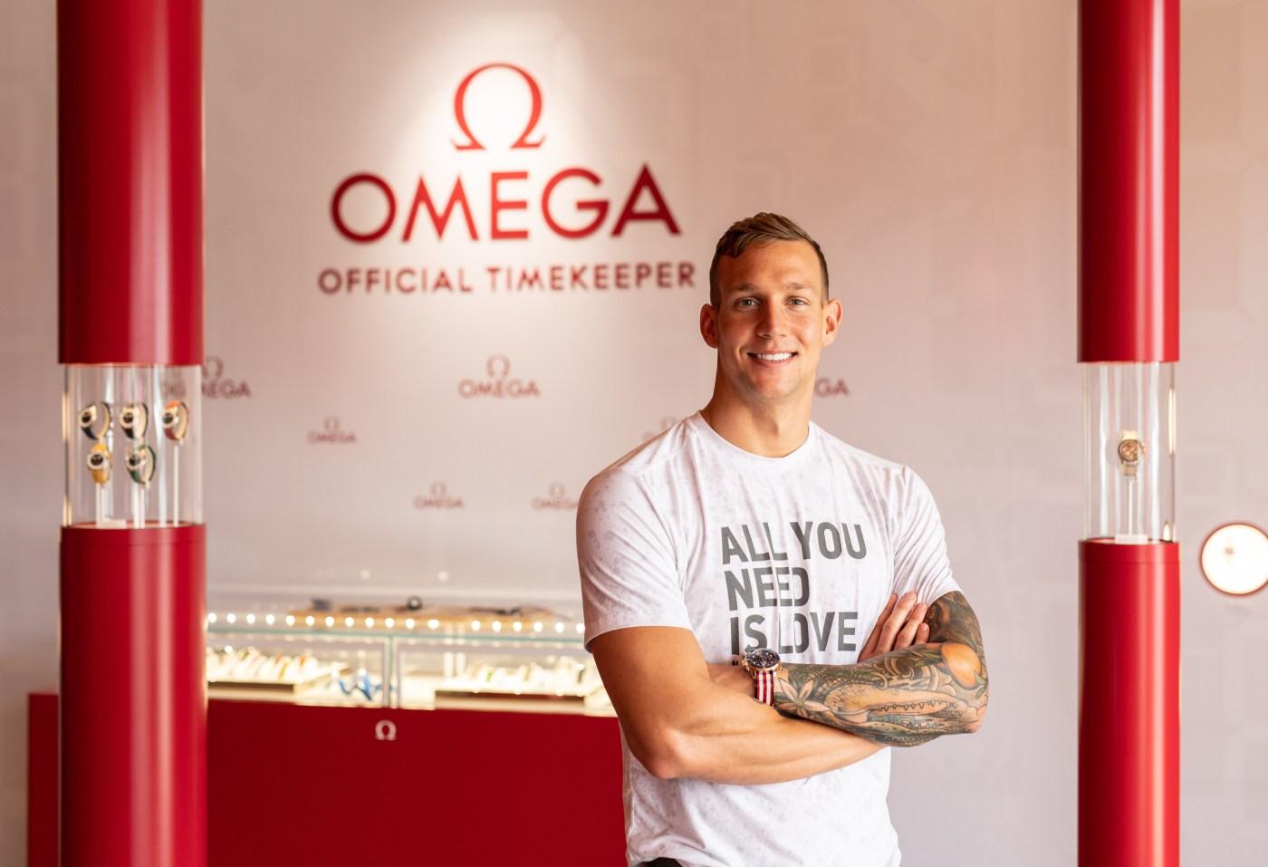 Omega ambassador Caeleb Dressel