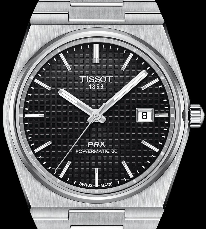 Tissot PRX Powermatic 80 dial close-up