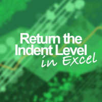 How to Return the Indentation of a Cell in Excel
