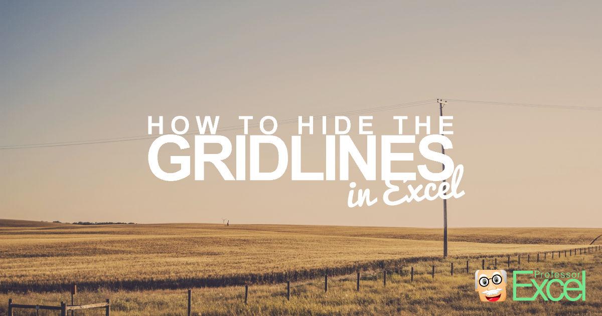 hide, gridlines, display