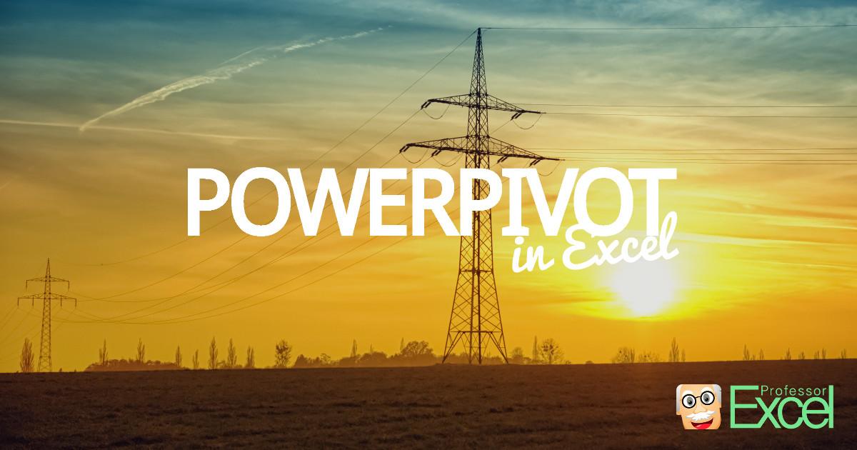 power, pivot, powerpivot, excel, addin
