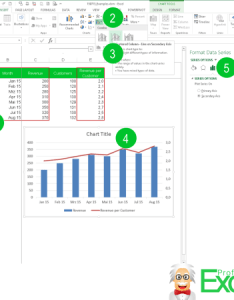 Excel two chart types combine graph line column also in one how to do it animation rh professor