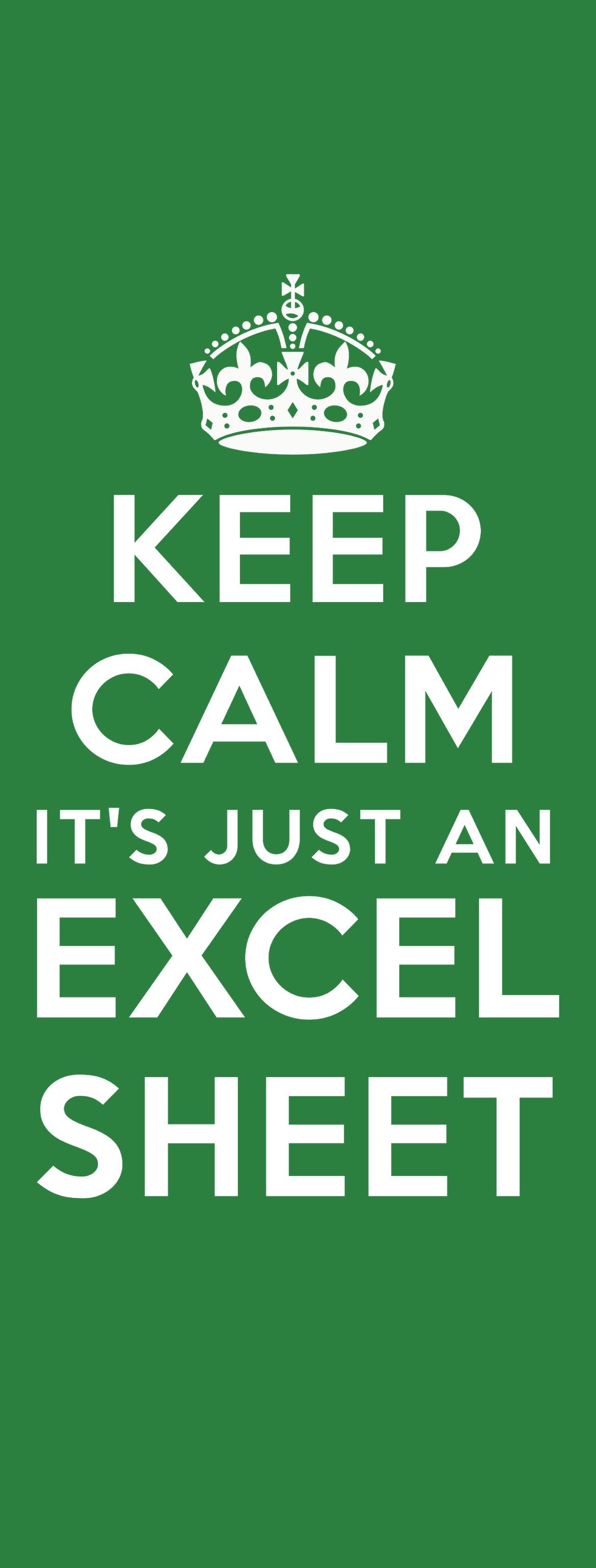 Wallpaper Excel Keep Calm 3