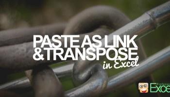 excel, paste, tranpose, link, cells