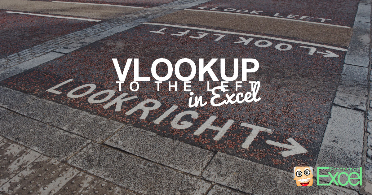 VLOOKUP to the Left
