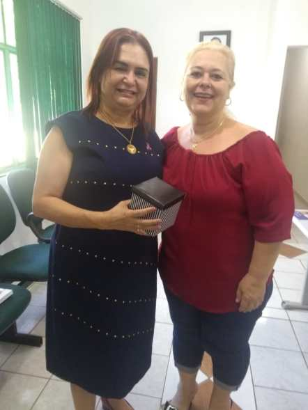 Com a secretária municipal de Educação Jane Márcia Talarico