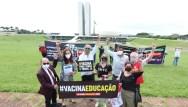 Entrega do Manifesto das Comissões de Educação das ALs em Brasília. Foto: Layla Andrade