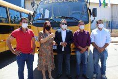 Comitiva de Rondolândia, liderada pelo prefeito Guedes (MDB)
