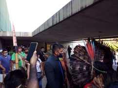 Indígenas em mobilização em Brasília