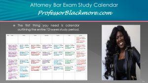 Bar Exam Study Schedule Calendar (UBE States & California Only)