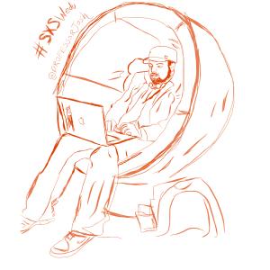 Professor Josh in the Google Lounge