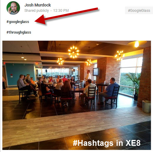Google Glass Hashtag Comments in XE8