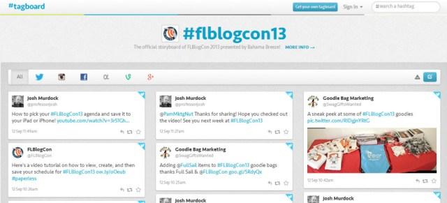 Tagboard FLBlogCon13