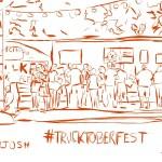 Trucktoberfest Trucks and Tech Sketch by Professor Josh