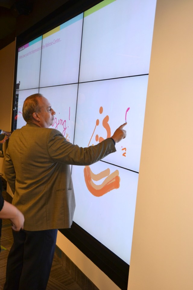 Orlando Library Melrose Center Interactive Wall