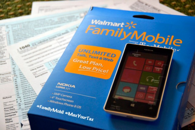Walmart #FamilyMobile #MaxYourTax Nokia Lumia 521 Savings #Shop