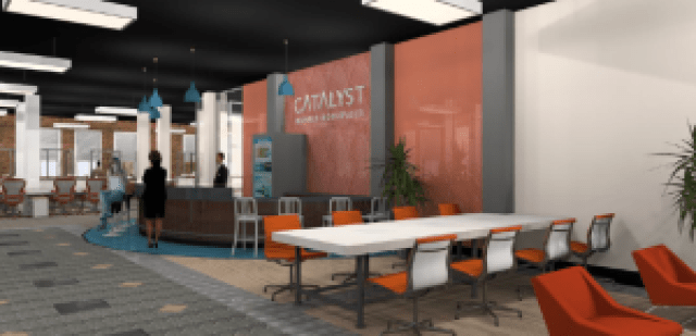 Catalyst's space plan rendering Downtown Orlando Coworking