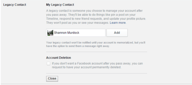 How To Make Sure Your Facebook Survives After Death - Legacy Contact Selection