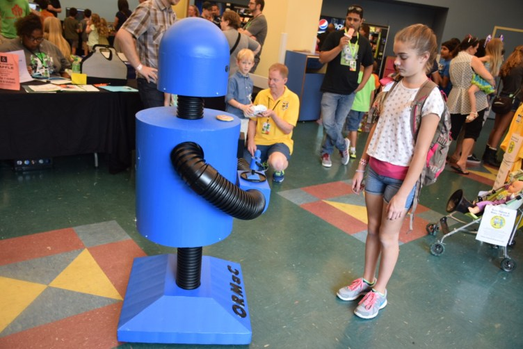 Maker Faire Orlando Blue Robot