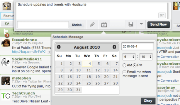 Schedule with Hootsuite