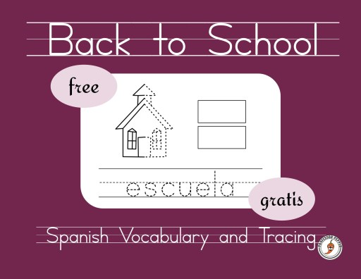 Back-to-School Spanish Vocabulary and Tracing