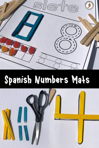 Spanish Craft Stick Numbers Mats Examples