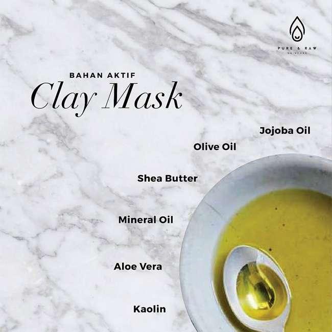 bahan aktif acne clay mask