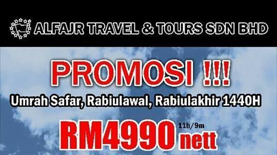 pakej promosi umrah 2018 2019 serendah rm4990 di seremban