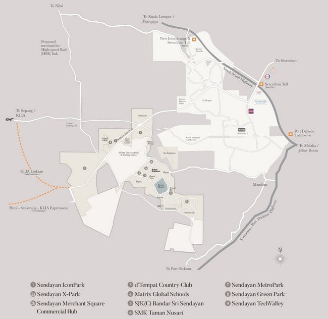 lokasi rumah teres strategik di seremban