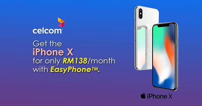 Telco Celcom Iphone X