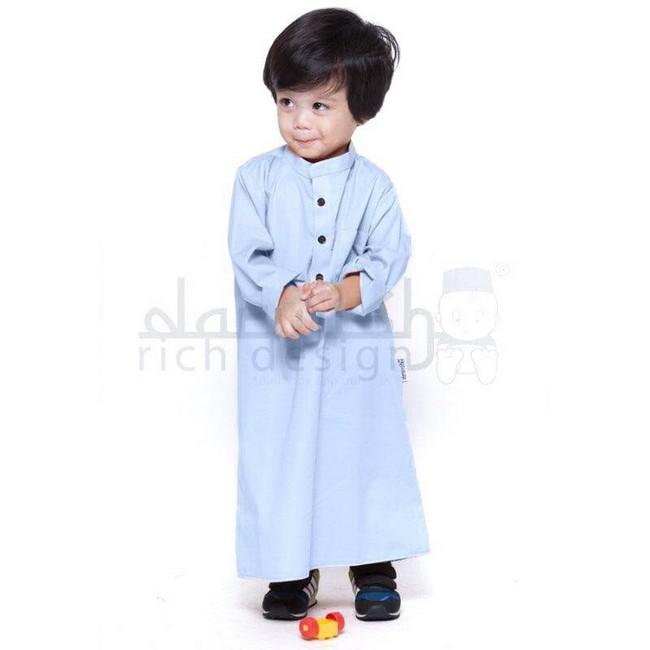 jubah kanak kanak baby blue