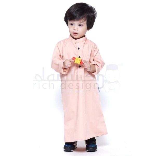 jubah kanak kanak pink