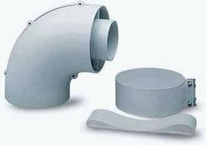 Коаксиальный отвод 90° для начального участка