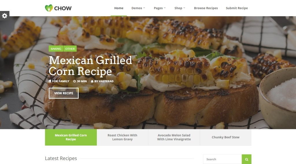 Food and Recipes WordPress Themes -2015
