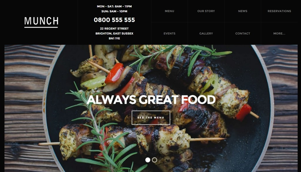 Food business WordPress themes for cafe shop, bakery, pub and bistro 2015- (2)