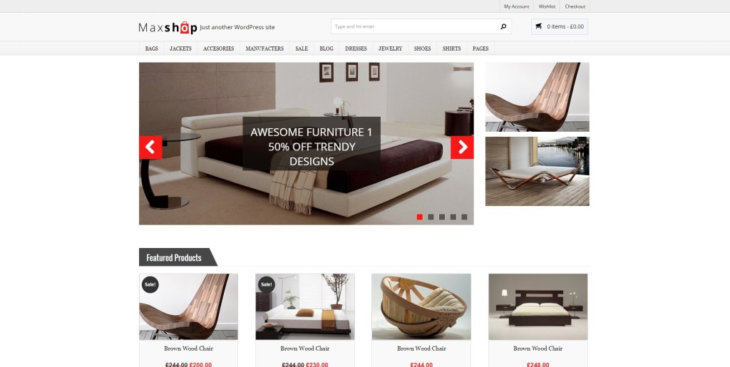 Best Furniture Store Ecommerce Themes for WordPress 2016