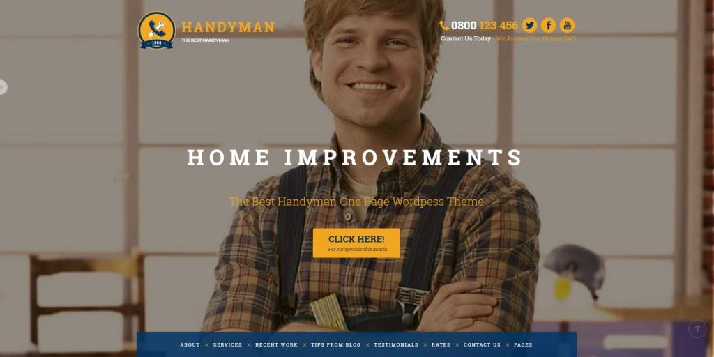 Best WordPress Themes for Plumbing, Carpentry, Renovation 2016