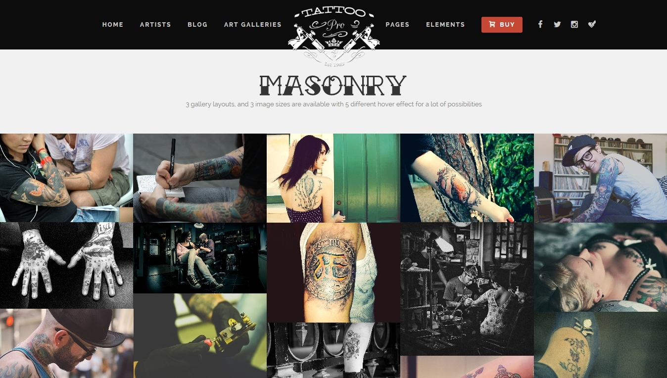 Best Modern Creative WordPress Themes for tattoo studios