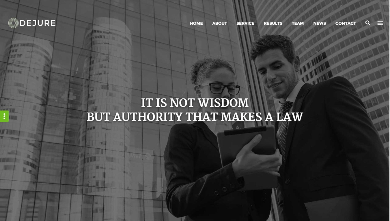 Dejure — responsive WordPress theme for a law firm