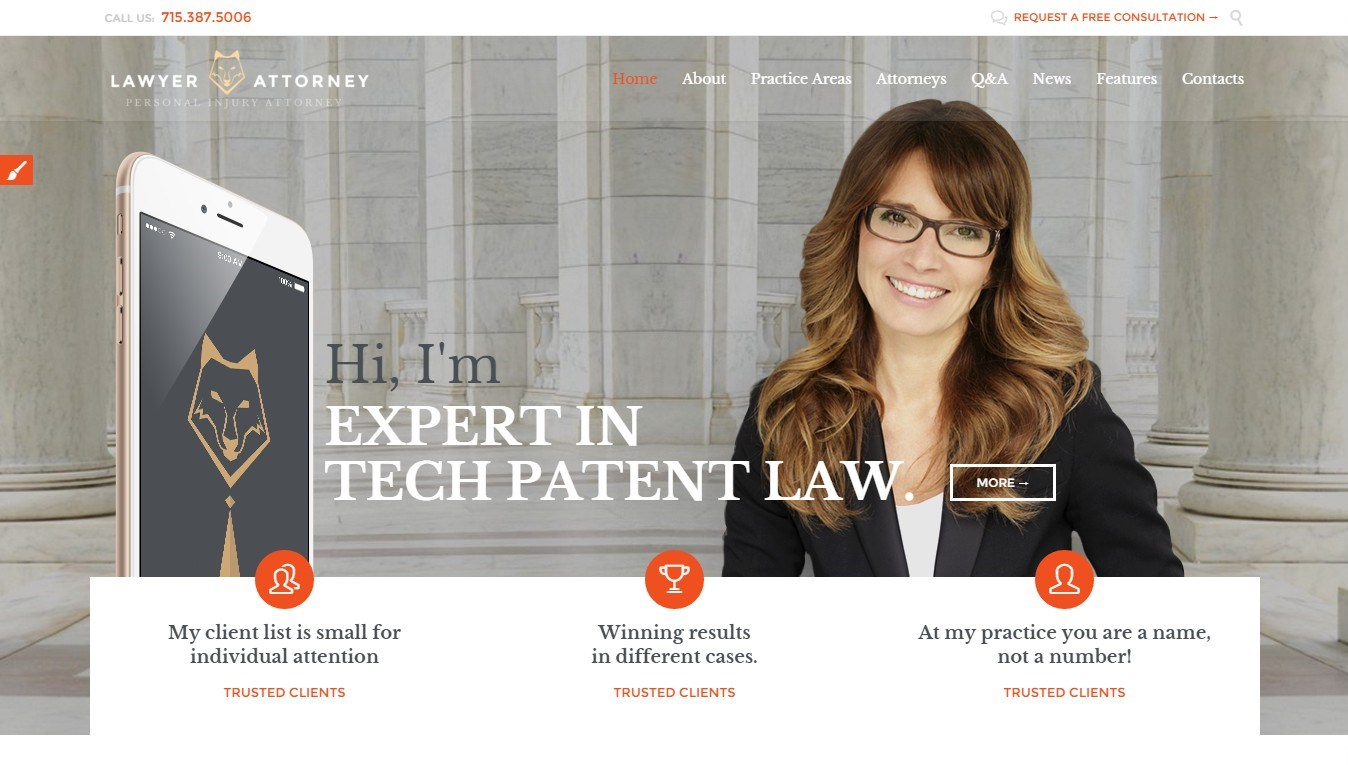 Lawyer and Legal Expert WordPress Themes 2016
