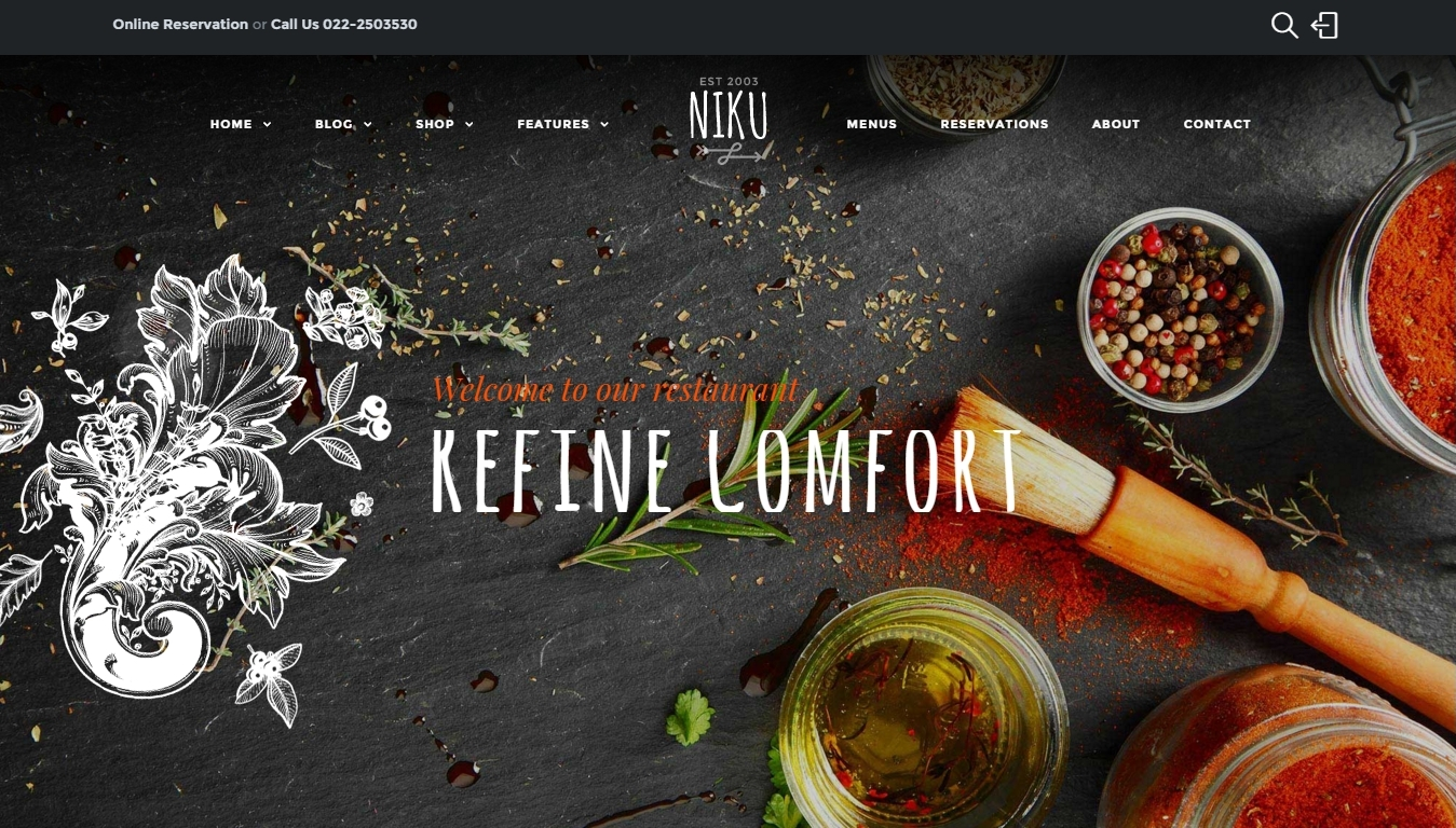 Responsive WordPress Restaurant Themes 2016