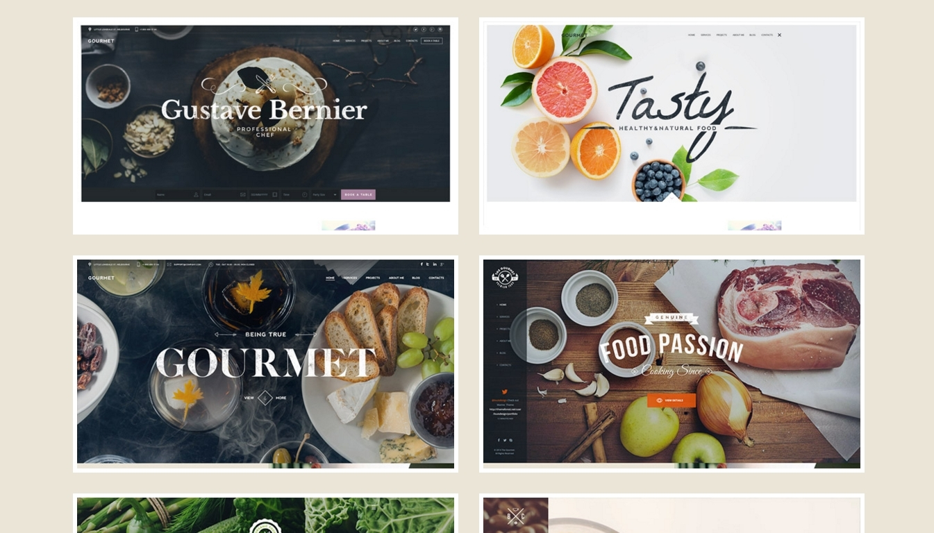 Responsive WordPress Restaurant Themes