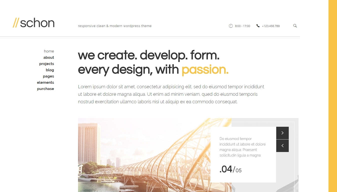 modern WordPress template for business