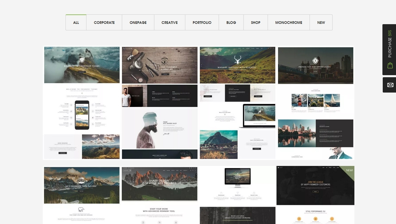 Ronneby — high-efficiency and responsive WordPress themes
