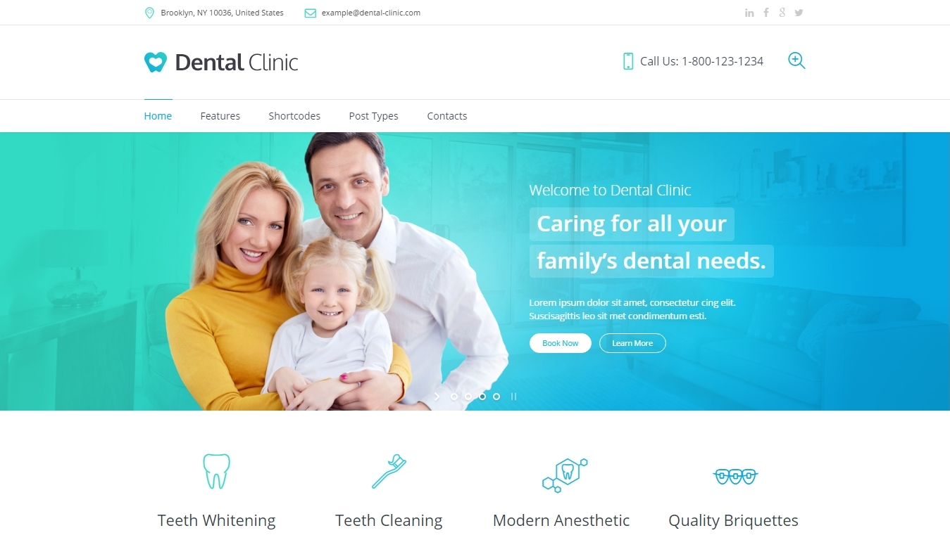 Dentalc Clinic responsive wordpress themes