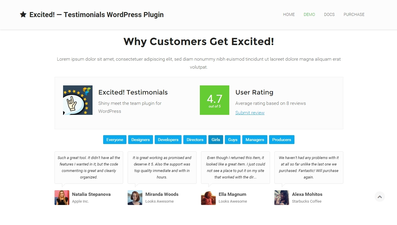 Premium WordPress review plugin